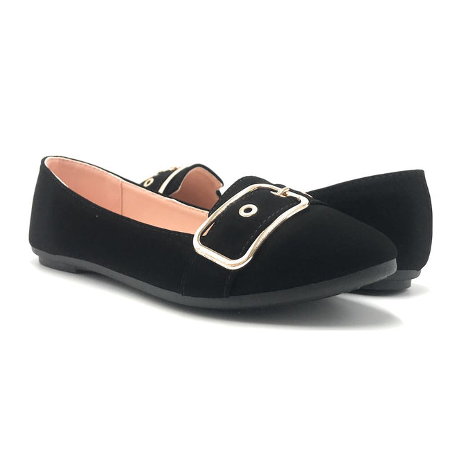 Forever Kinsella-40 Black Color Ballerina Shoes for Women