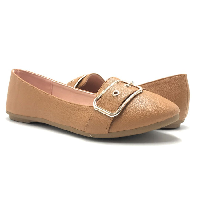 Forever Kinsella-40 Tan Color Ballerina Shoes for Women