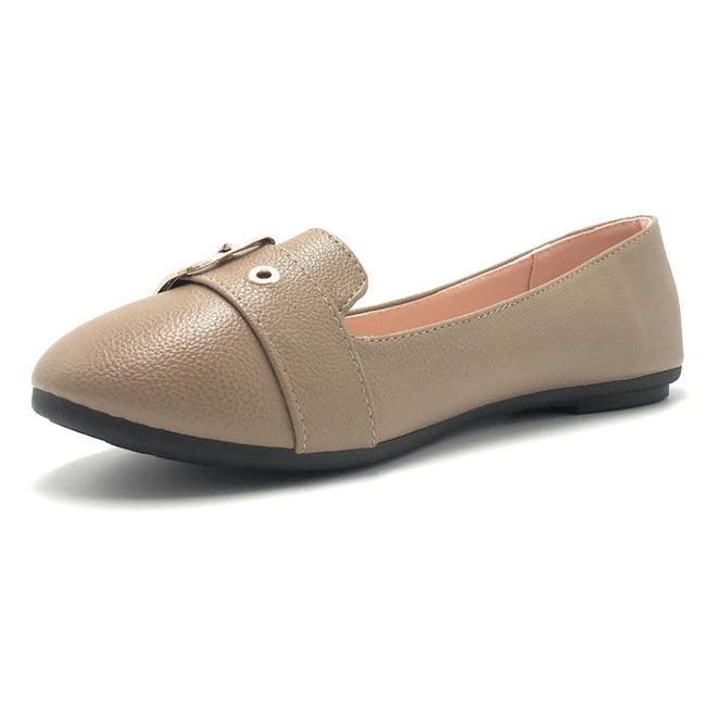 Forever Kinsella-40 Taupe Color Ballerina Shoes for Women