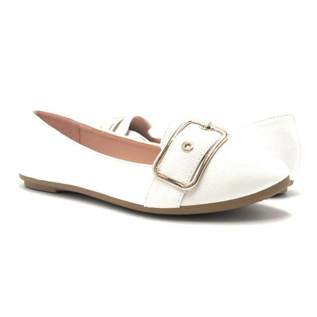 Forever Kinsella-40 White Color Ballerina Shoes for Women