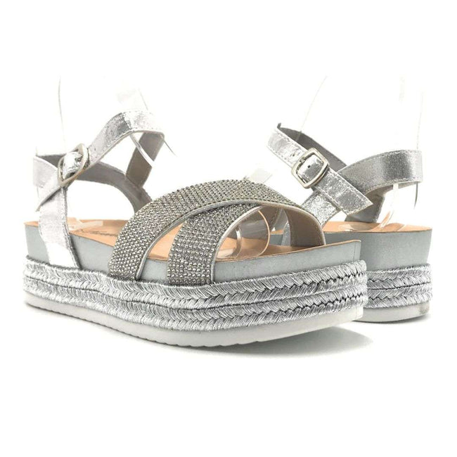 Forever Lakota-47 Silver Color Flat-Sandals Shoes for Women