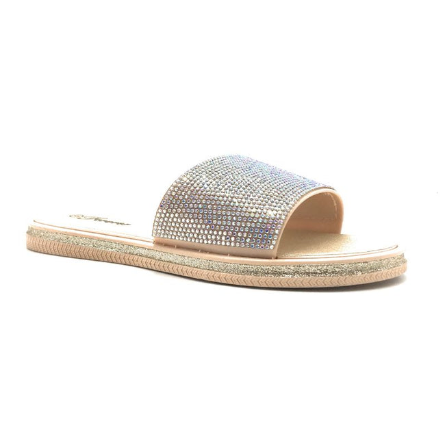 Lead-16 Gold Color Flat-Sandals Shoes for Women