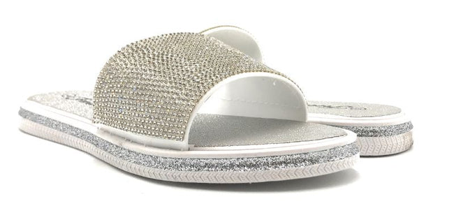 Lead-16 Silver Color Flat-Sandals Shoes for Women