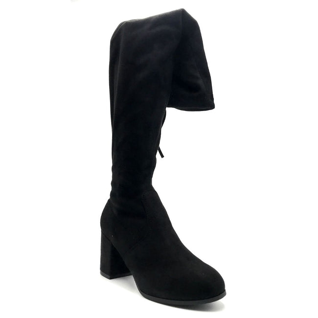 Forever Life-30 Black Color Boots Right Side View, Women Shoes