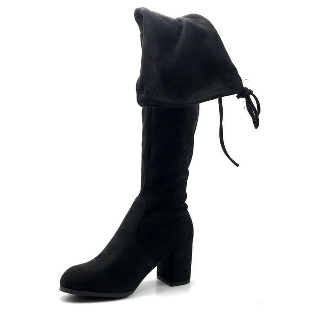 Forever Life-30 Black Color Boots Left Side view, Women Shoes