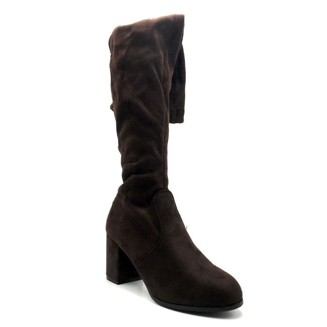 Forever Life-30 Brown Color Boots Right Side View, Women Shoes