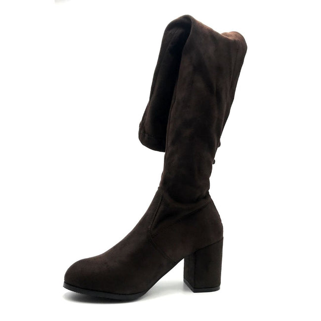 Forever Life-30 Brown Color Boots Left Side view, Women Shoes
