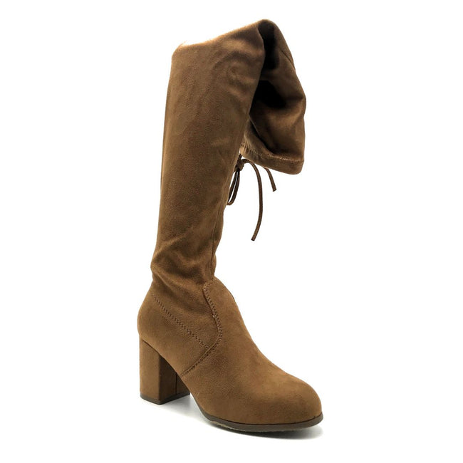 Forever Life-30 Tan Color Boots Right Side View, Women Shoes