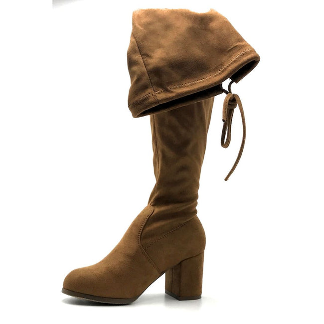 Forever Life-30 Tan Color Boots Left Side view, Women Shoes