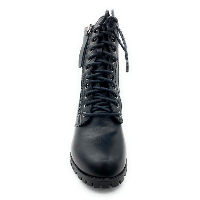 Forever Link Access-30 Black Color Boots Front View, Women Shoes