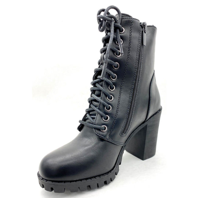 Forever Link Access-30 Black Color Boots Left Side view, Women Shoes