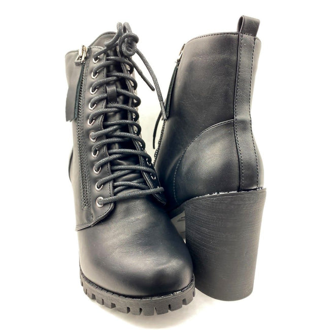 Forever Link Access-30 Black Color Boots Both Shoes together, Women Shoes
