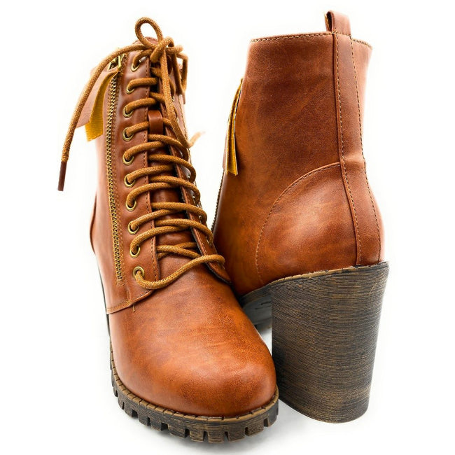 Forever Link Access-30 Tan Color Boots Both Shoes together, Women Shoes