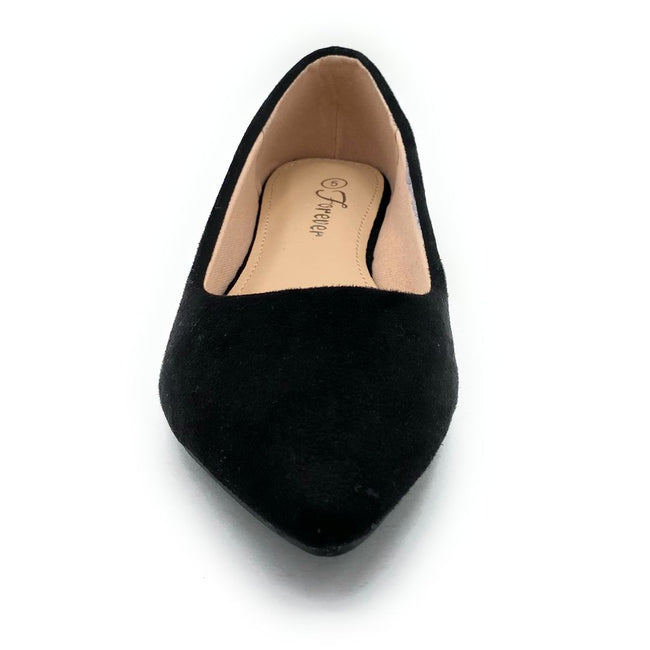 Forever Link Arrow-46 Black Color Ballerina Shoes for Women