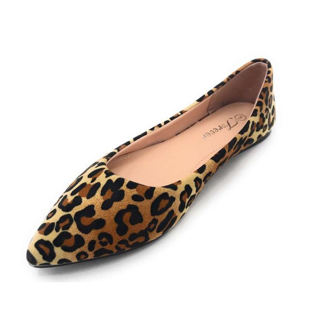 Forever Link Arrow-46 Leopard Color Ballerina Shoes for Women