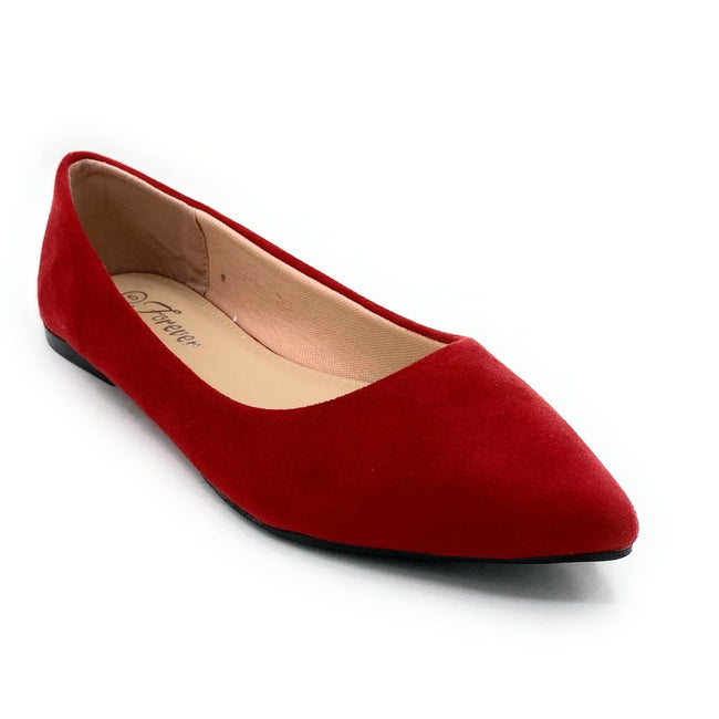 Forever Link Arrow-46 Red Color Ballerina Shoes for Women
