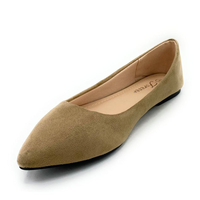 Forever Link Arrow-46 Taupe Color Ballerina Shoes for Women