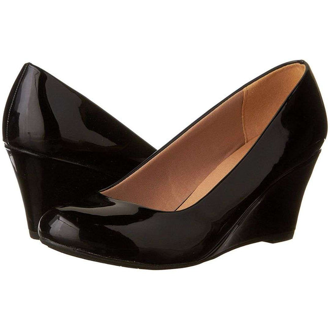 Forever Link Doris-22 Black Color Wedge Shoes for Women