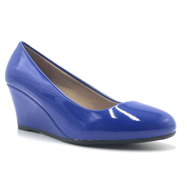 Forever Link Doris-22 Blue Color Wedge Shoes for Women