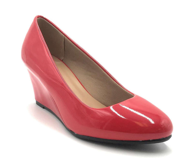 Forever Link Doris-22 Red Color Wedge Shoes for Women