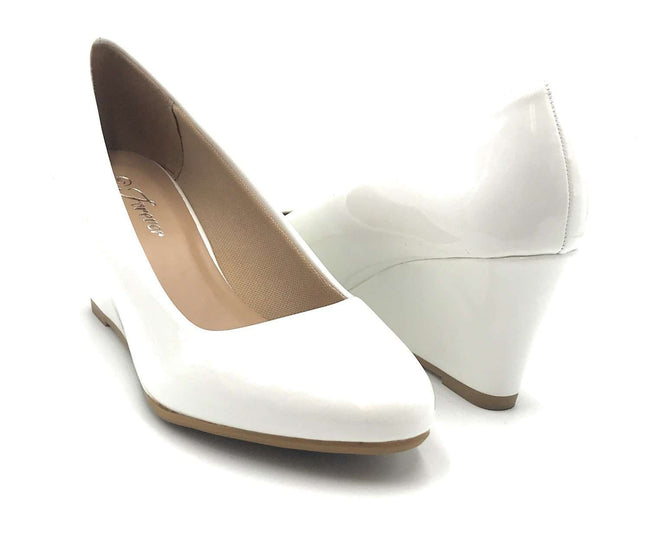 Forever Link Doris-22 White Color Wedge Shoes for Women