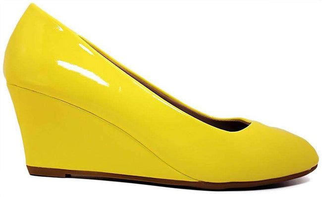Forever Link Doris-22 Yellow Color Wedge Shoes for Women
