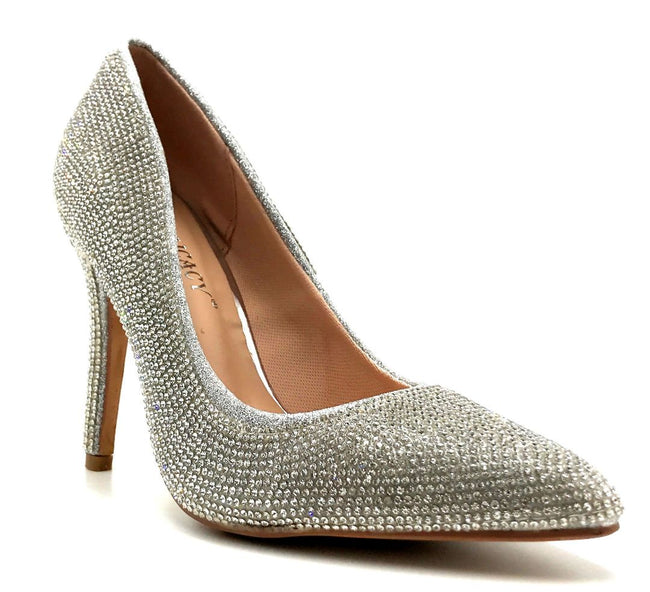 Forever Link Event-92 Silver Color Pumps Right Side View, Women Shoes