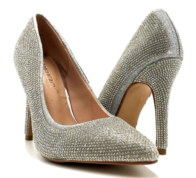 Forever Link Event-92 Silver Color Pumps Both Shoes together, Women Shoes