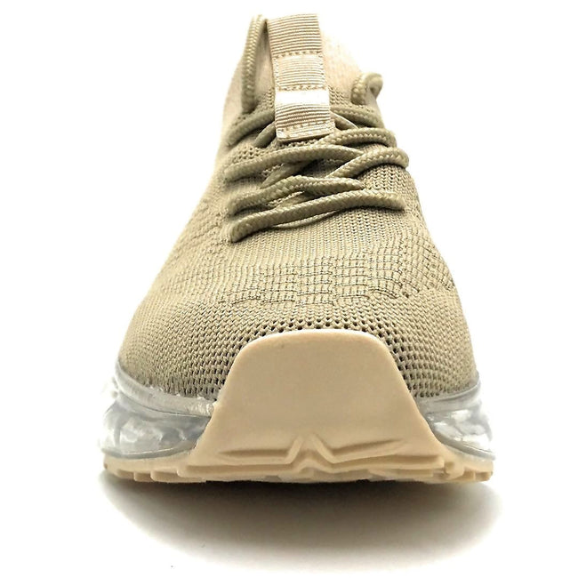 Forever Link Flow-19 Beige Color Fashion Sneaker Front View, Women Shoes