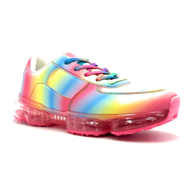 Forever Link Flow-19 Rainbow Color Fashion Sneaker Right Side View, Women Shoes