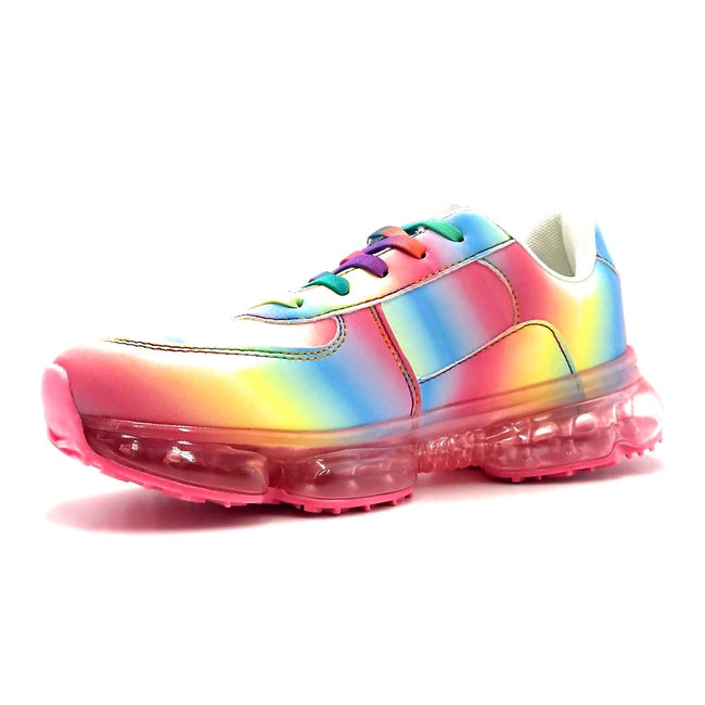 Forever Link Flow-19 Rainbow Color Fashion Sneaker Left Side view, Women Shoes