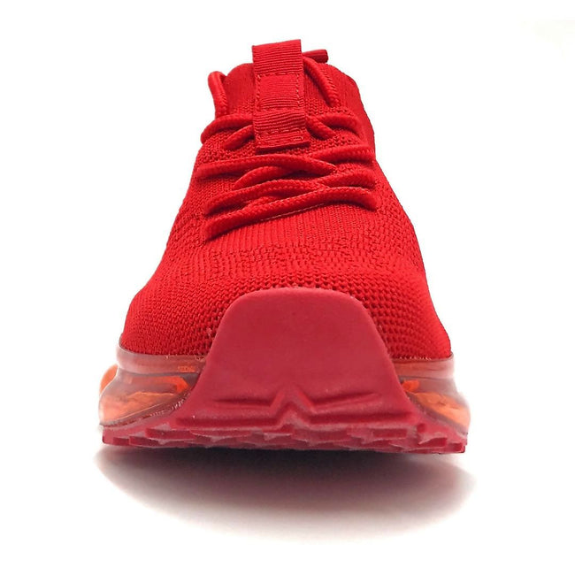 Forever Link Flow-19 Red Color Fashion Sneaker Front View, Women Shoes