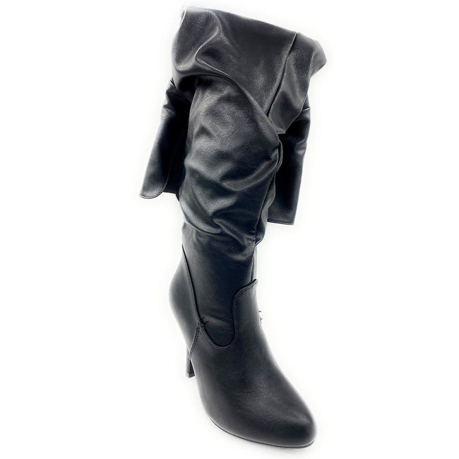 Forever Link Focus-33 Black Color Boots Right Side View, Women Shoes