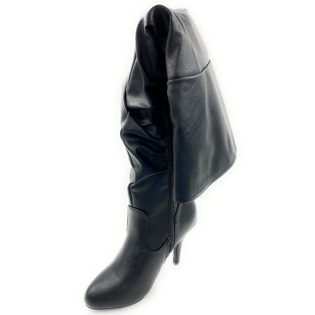 Forever Link Focus-33 Black Color Boots Left Side view, Women Shoes