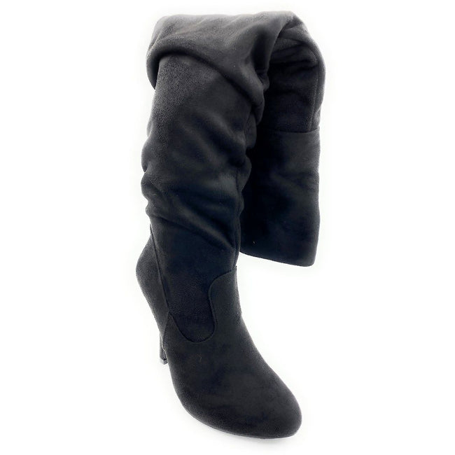 Forever Link Focus-36 Black Color Boots Right Side View, Women Shoes