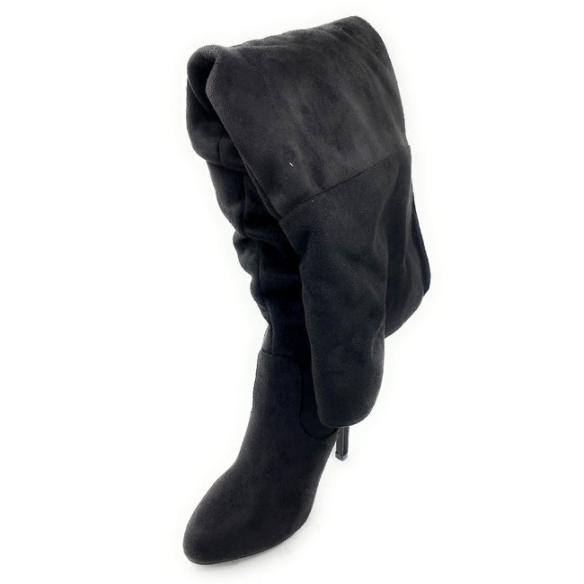 Forever Link Focus-36 Black Color Boots Left Side view, Women Shoes