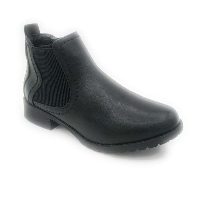 Forever Link Inspire-22 Black Color Boots Shoes for Women