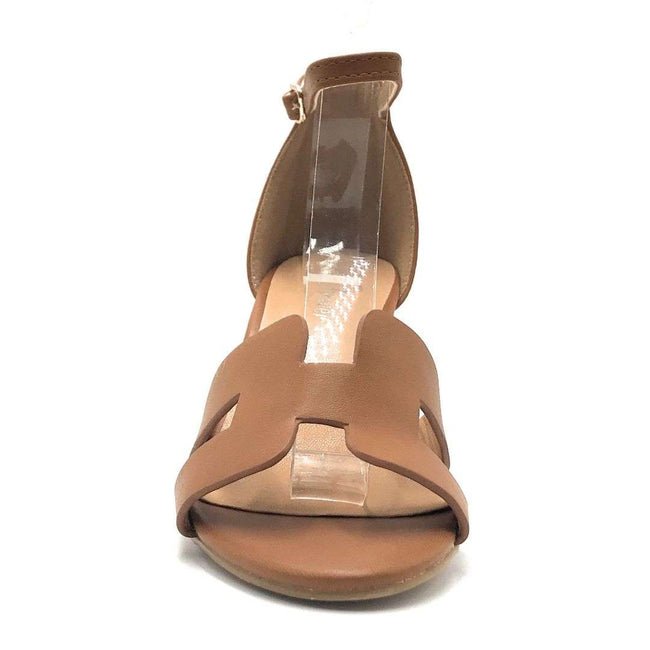 Forever Link Laury-04 Tan Color Flat-Sandals Shoes for Women
