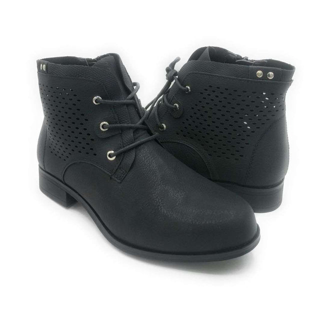 Forever Link Lite-07 Black Color Boots Shoes for Women