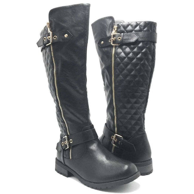 Forever Link Mango-21 Black Color Boots Shoes for Women