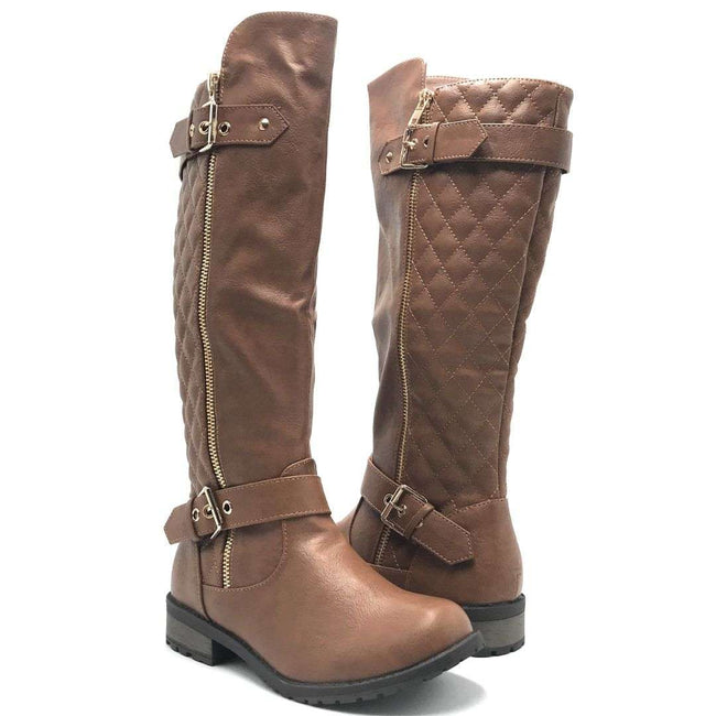 Forever Link Mango-21 Tan Color Boots Shoes for Women