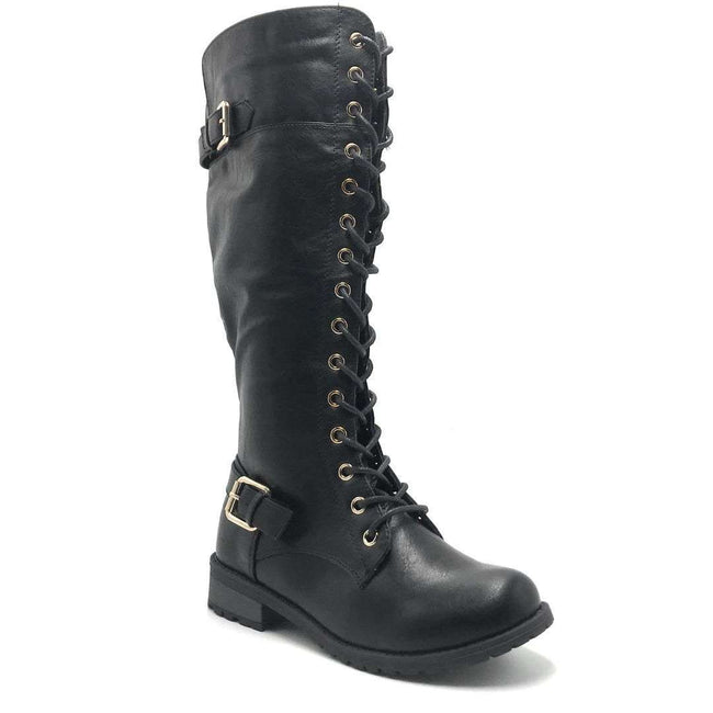 Forever Link Mango-27 Black Color Boots Shoes for Women