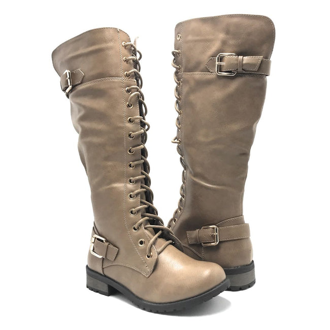 Forever Link Mango-27 Taupe Color Boots Shoes for Women