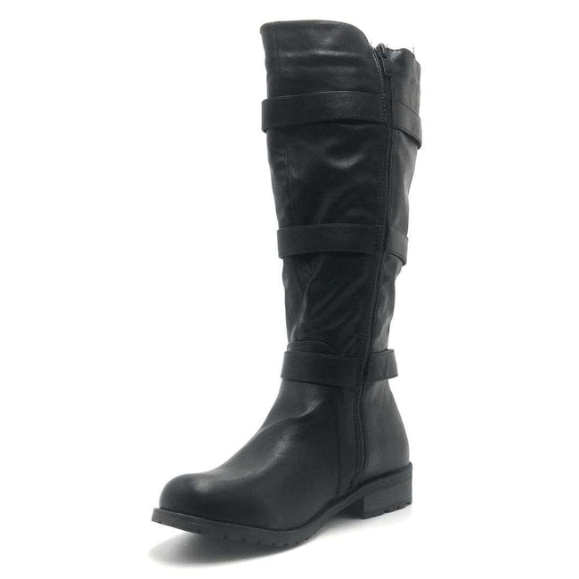 Forever Link Mango-28 Black Color Boots Shoes for Women