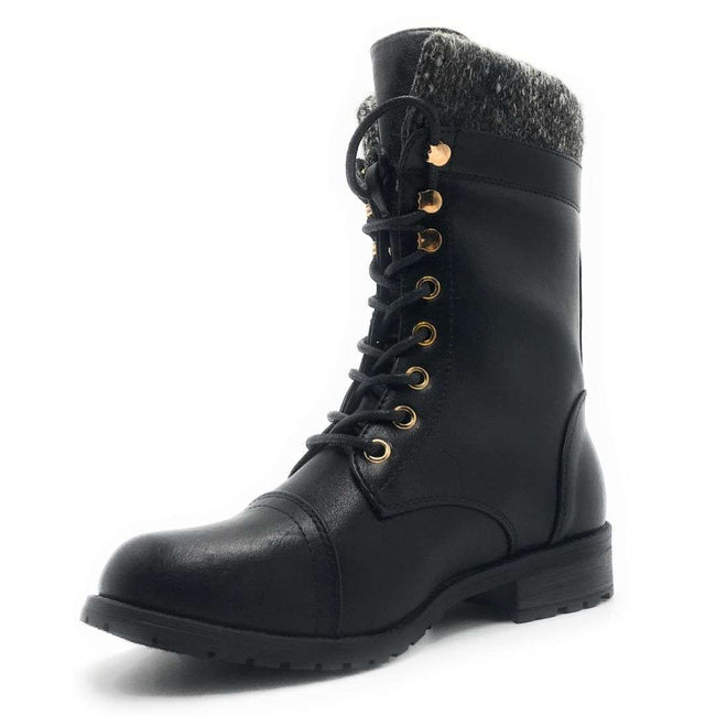 Forever Link Mango-31 Black Color Boots Shoes for Women