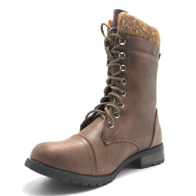 Forever Link Mango-31 Tan Color Boots Shoes for Women