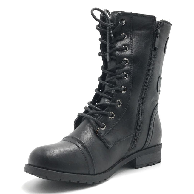 Forever Link Mango-61 Black Color Boots Shoes for Women