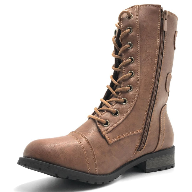 Forever Link Mango-61 Tan Color Boots Shoes for Women