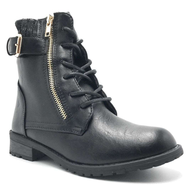 Forever Link Mango-L32 Black Color Boots Shoes for Women