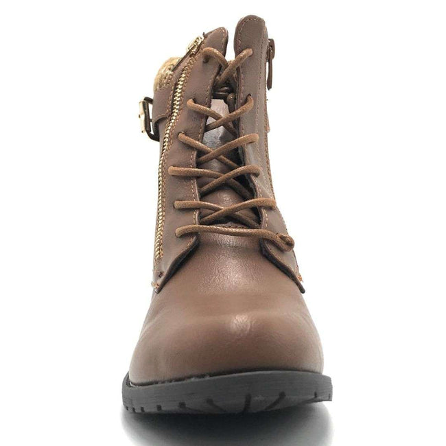 Forever Link Mango-L32 Tan Color Boots Shoes for Women